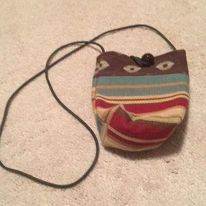 Handbags - Multi Color Fabric Crossbody Bucket Bag